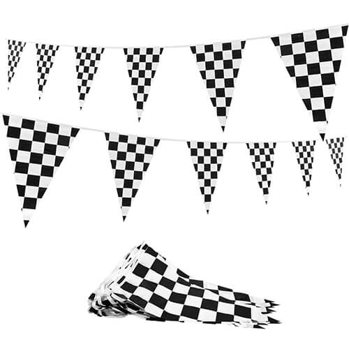 checkered pennant banner