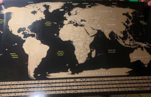 Scratch Off Map of The World photo review